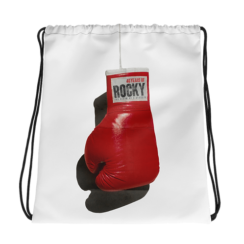 40 Years of Rocky Drawstring bag
