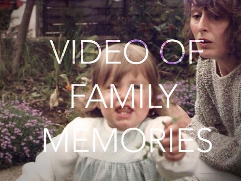 Make a video of family photos
