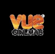 VUE cinemas logo in orange and black