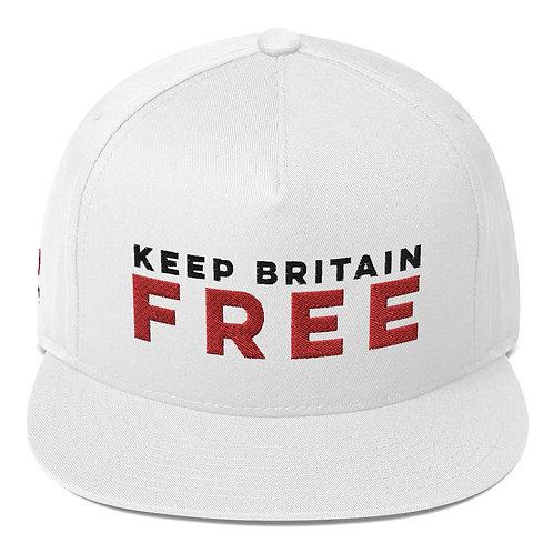 KBF snapback cap in white