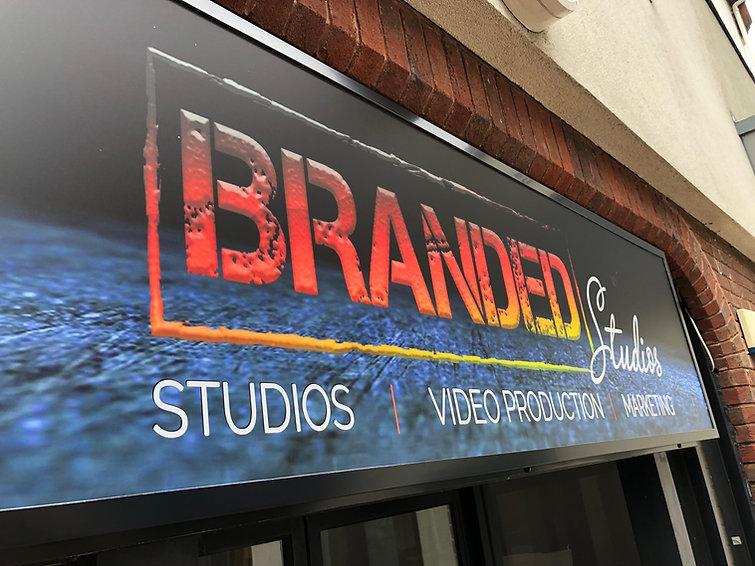 Branded studios signage