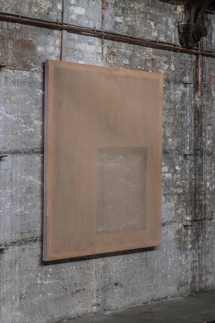 Composition Cappuccino I Acrylic on chiffon I 130x120cm I 2020
