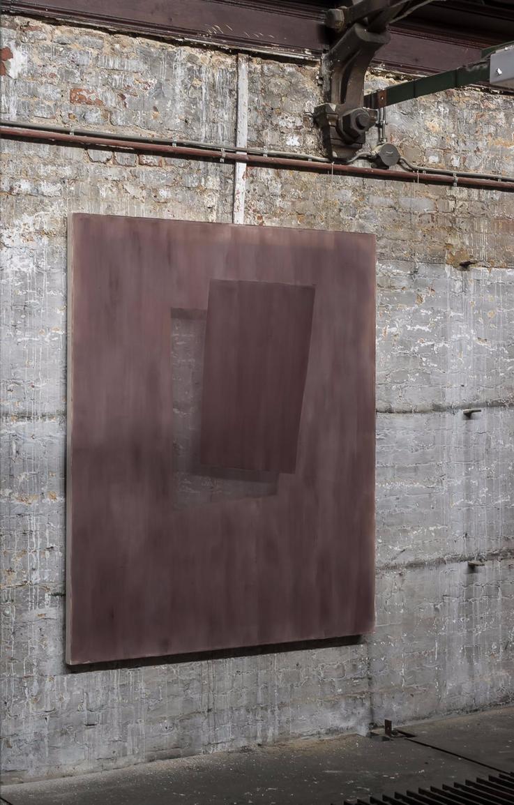 Composition Ruby Dark I Acrylic on chiffon I 140x115cm I 2021