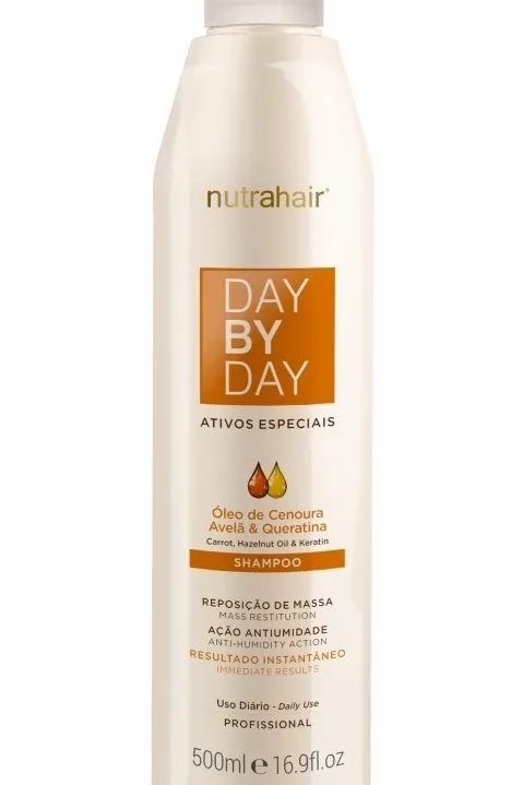Shampoo Day By Day Óleo De Cenoura 500ml - Nutra Hair
