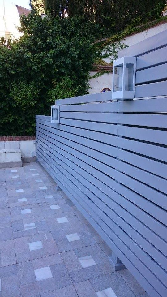 Esmaltado gris decoración exterior