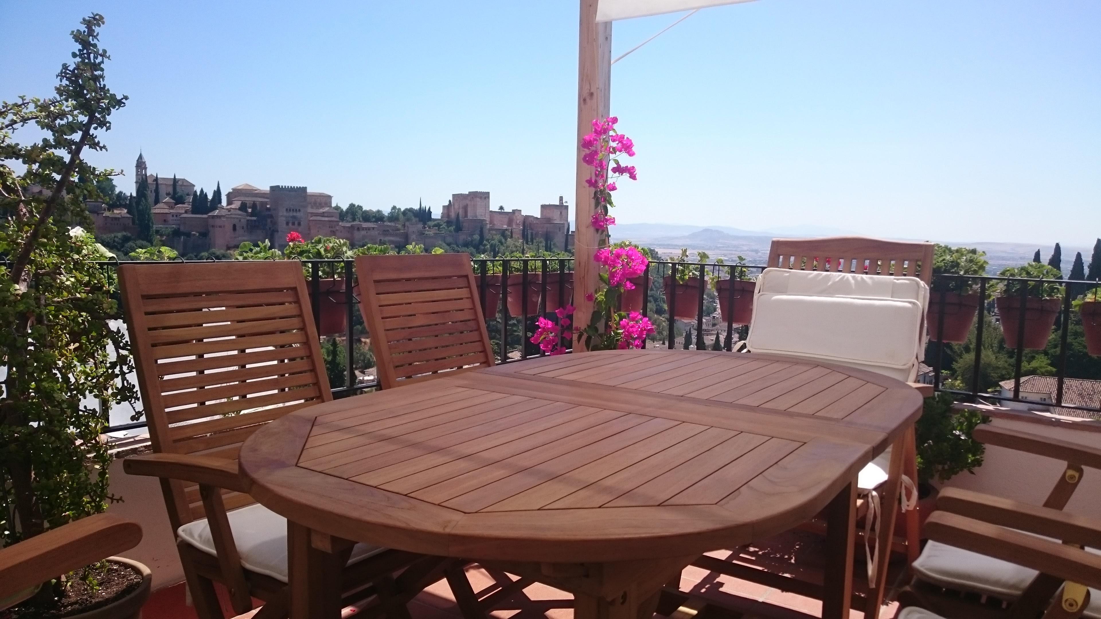 Conjunto vistas a la Alhambra