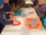 """Children´s Meeting With Art"". ""Totem Flags"", a workshop by Line Franke Hedegaard at LAND-SHAPE Festival, Hanstholm 2015, Denmark. Photo: Oana A. Grigoras"