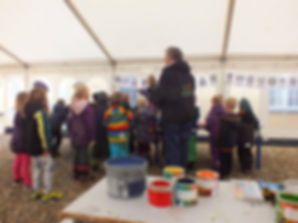 Workshop with children at the LAND-SHAPE Festival, Hanstholm 2015, Denmark