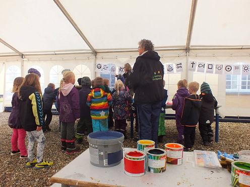 Workshop with children at the LAND-SHAPE Festival, Hanstholm 2015, Denmark
