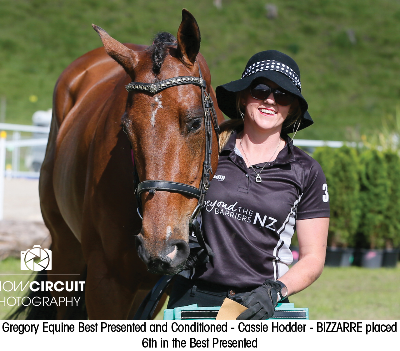 Gregory Equine Best Presented and Conditioned - Cassie Hodder - BIZZARRE placed  6th in the Best Presented