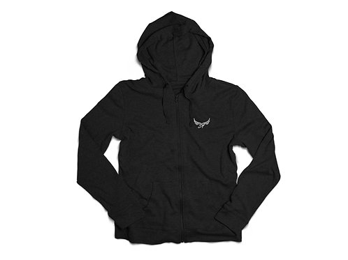 Zip Up Embroidered Hoodie