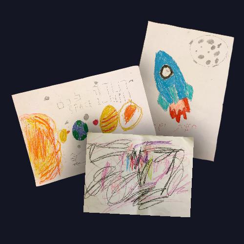 ציורים שילדים ציירו