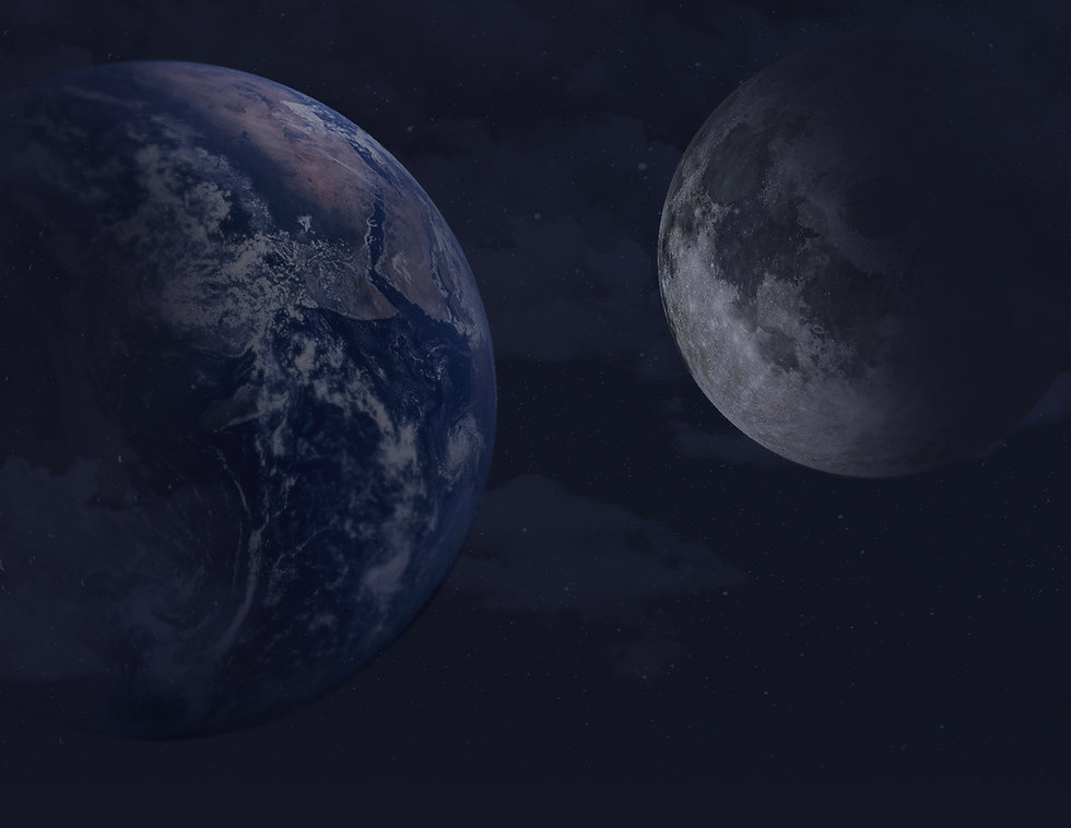 כדור הארץ מול הירח