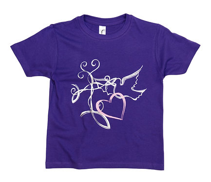 Kid's T Dove Purple