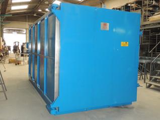 Horno a gasóleo para pirólisis de pintura en ganchos, soporteria, motores eléctricos, etc.