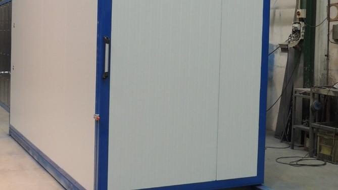 Secadero eléctrico de 15 m³ de capacidad para 150ºC.