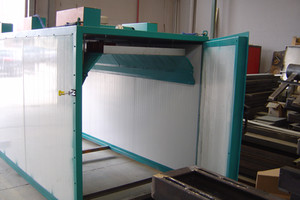 Secadero eléctrico de 10m³, con doble acceso, para trabajar a 150ºC.