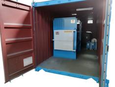 Incinerador portátil en contenedor, para residuos bio-contaminados.