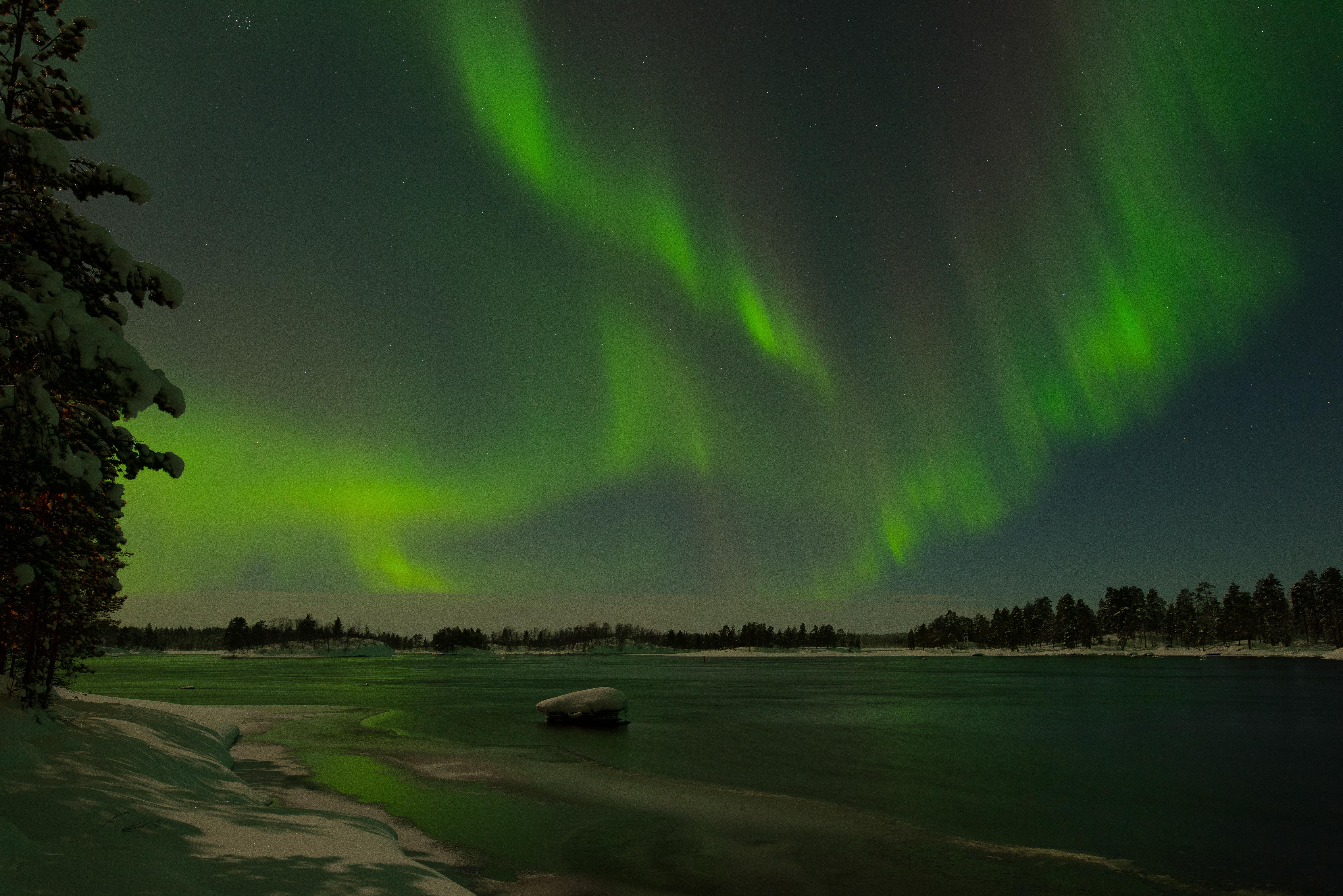 Lights over Lake Inari