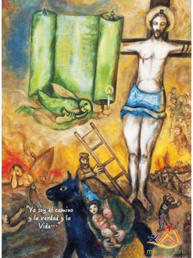 El pueblo de Israel ya tuvo que alcanzar la libertad saliendo de la esclavitud en Egipto una vez. Ahora, como en un recuerdo, aparecen esos peregrinos a la derecha del Cristo, recordando a su pueblo y a nosotros, que la peor servidumbre es la interior y que después de salir de Egipto, quedan cuarenta años por el desierto. ¡Oh miserable esclavitud! El que vive esclavo de un hombre, cansado alguna vez del pesado yugo que le impone su amo, descansa huyendo de él; pero el esclavo del pecado ¿a dónde huirá? Lo lleva siempre consigo a cualquier parte que huya, porque el pecado que cometió es interior. La pasión cesa, pero el pecado no pasa; se acaba lo que deleita, pero subsiste lo que punza. Únicamente puede librarnos del pecado el que vino sin pecado y se convirtió en sacrificio para destruir el pecado. Jesús nos dice: Si permanecéis en mi palabra, seréis de verdad discípulos míos; conoceréis la verdad, y la verdad os hará libres #Cuaresma en mivocacion.es