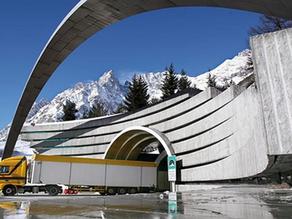 Upozornění pro tunel Mont Blanc