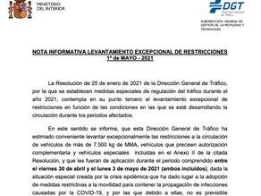 Výjimka ze zákazu jízdy kamionů ve Španělsku