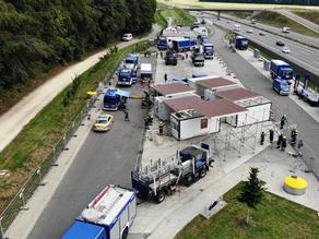 Nová testovací stanice Covid-19 v Rakousku