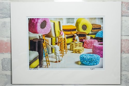 """Up to allsorts - 7"""" x 5"""" mounted print"""