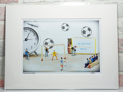 Match of the day - A4 mounted print