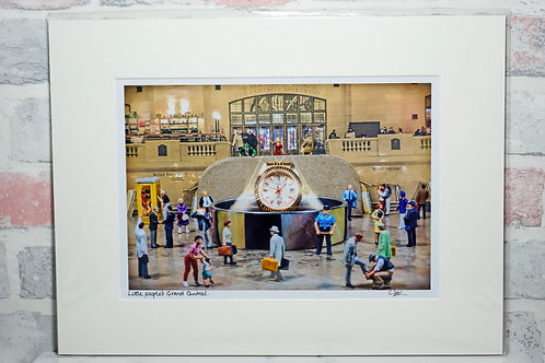 Little People's Grand Central - A4 mounted print