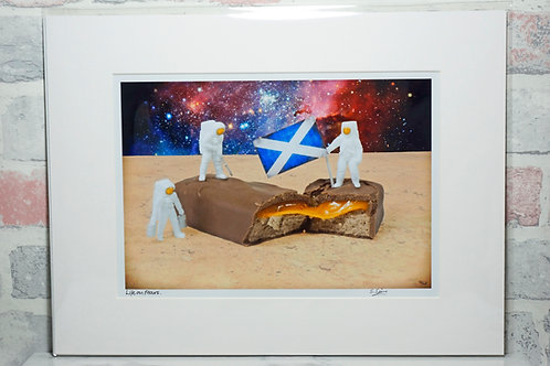 "Life on Mars - 7"" x 5"" mounted print"