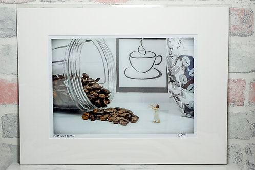 "Must have coffee - 7"" x 5"" mounted print"