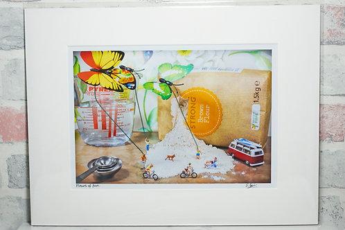 Flours of fun - A4 mounted print