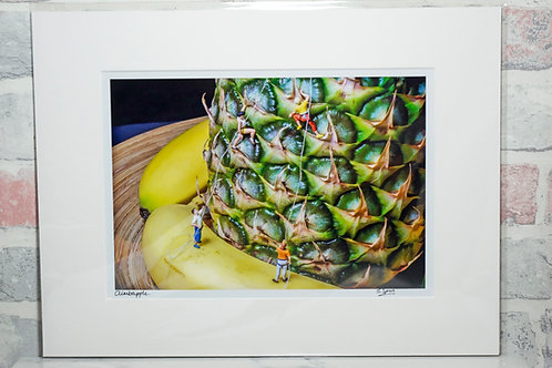 "Climbapple - 7"" x 5"" mounted print"