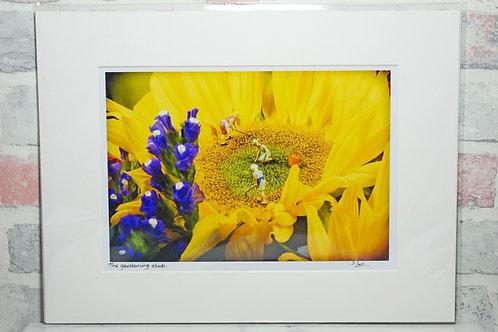 "The Gardening Club - 7"" x 5"" mounted print"