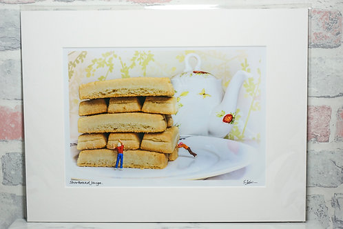 Shortbread Jenga - A4 mounted print