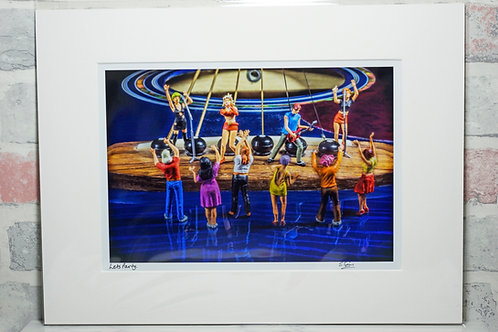 Let's party - A4 mounted print