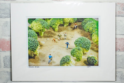 Broccoli Forest - A4 mounted print