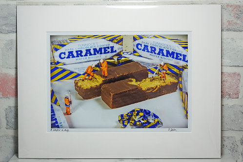 A wafer a dig - A4 mounted print