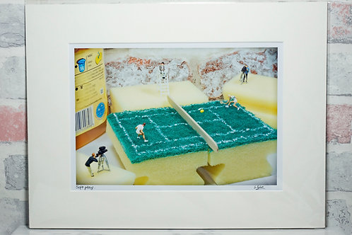 "Soft play - 7"" x 5"" mounted print"