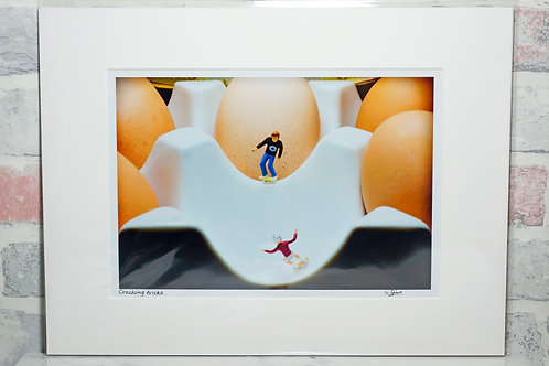 "Cracking tricks - 7"" x 5"" mounted print"