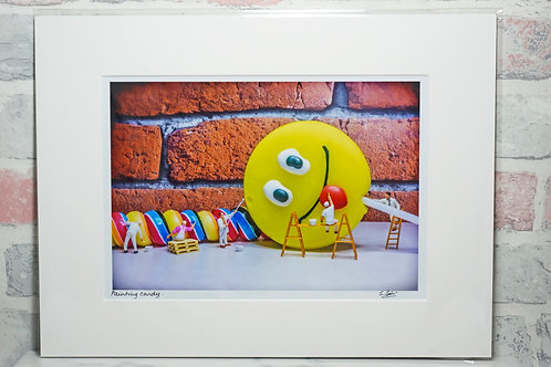 Painting Candy - A4 mounted print