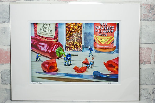 "Man v Food - 7"" x 5"" mounted print"