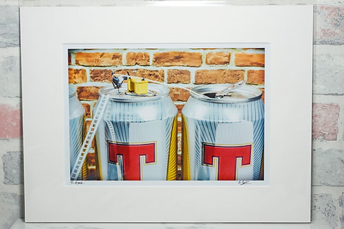 """T-time - 7"""" x 5"""" mounted print"""