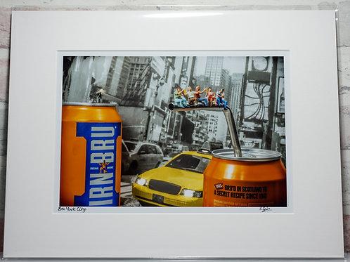 "Bru York City - 7"" x 5"" mounted print"