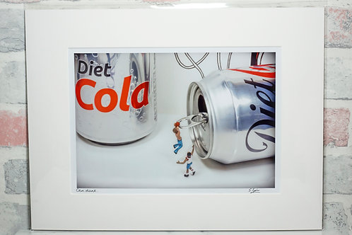 Can dunk - A4 mounted print