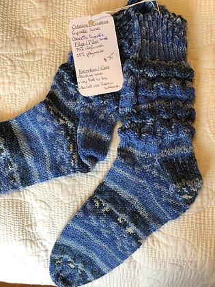 """Bas tricoté """"cupcake socks"""" (P/M)"""