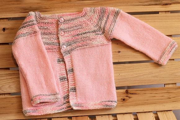 Veste en tricot 100 % acrylique - Les tricots d'Eva