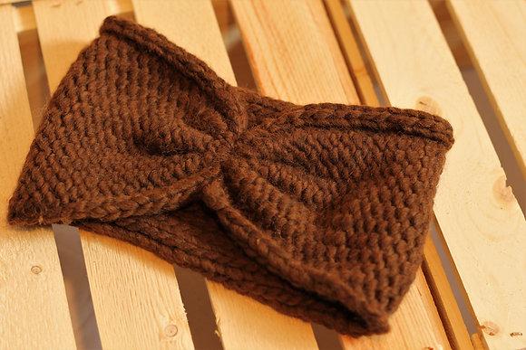 Bandeau Moe brun, en fibre d'alpaga