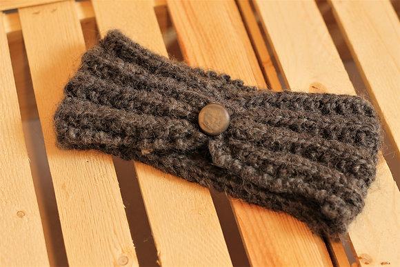 Bandeaux à bouton en fibre d'alpaga, couleurs au choix